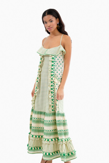 green peeri dress