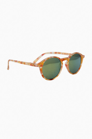 yellow tortoise mirror sunglasses #d