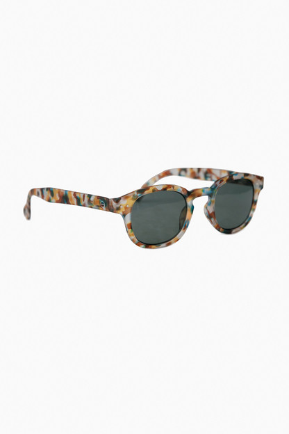 blue tortoise sunglasses #c with soft grey lenses