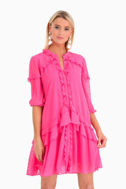 pink tilly ruffle dress
