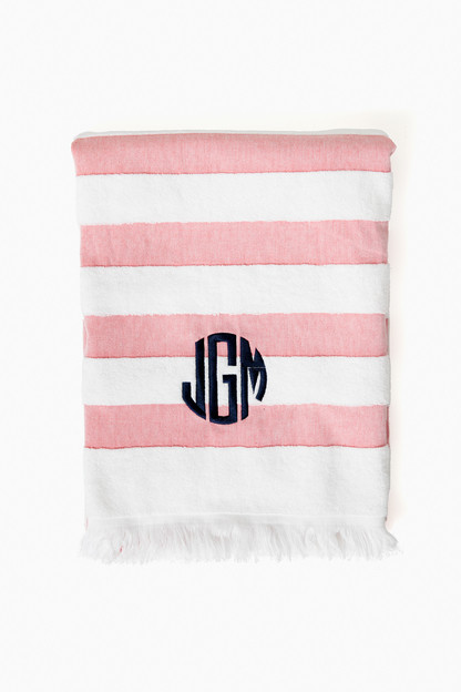 Red Amado Beach Towel If ordered with a monogram, this item will not arrive for Christmas.