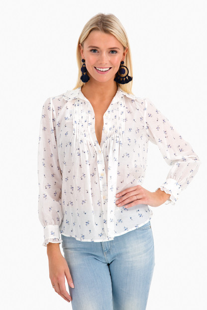 long sleeve spring floral top