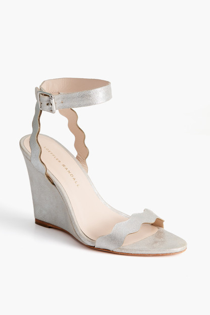 piper scallop wedge sandals