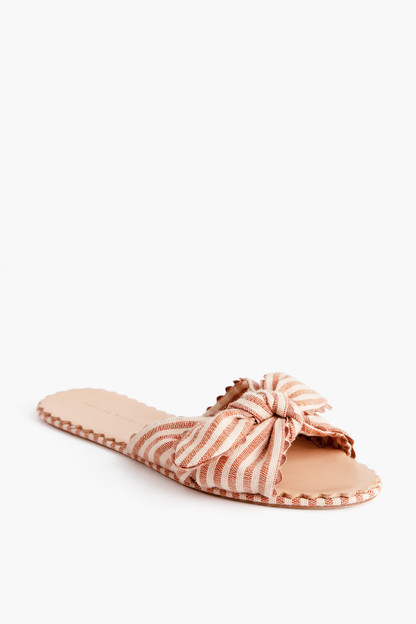 striped shirley slides