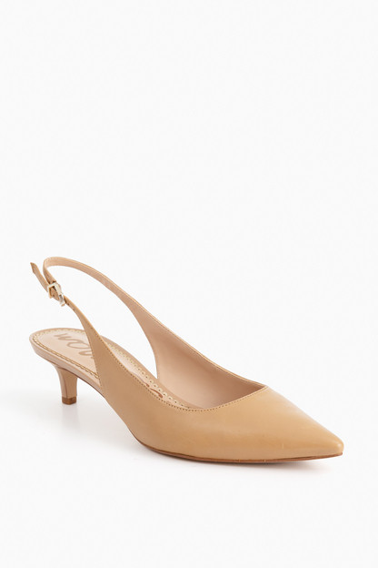 classic nude leather ludlow slingback heels