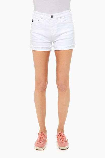 white hailey jean short
