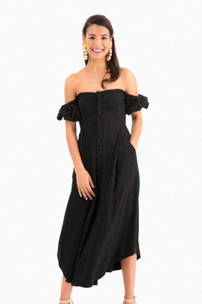 black prin dress