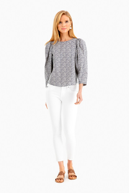 long sleeve lauren poplin top