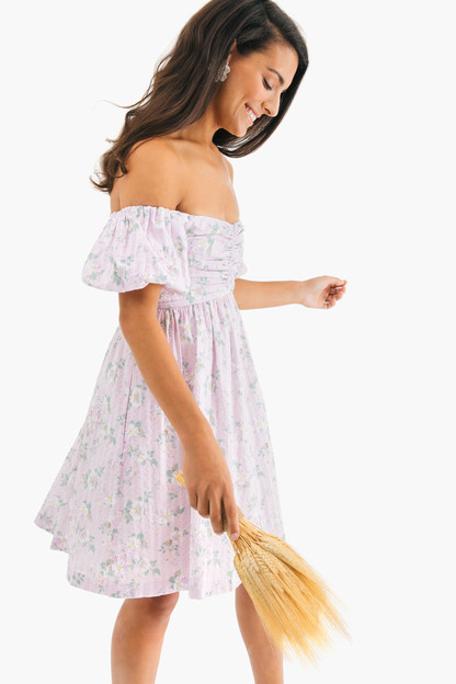 off the shoulder adrienne dress