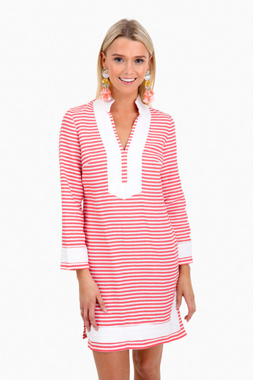 classic stripe tunic with sleeves