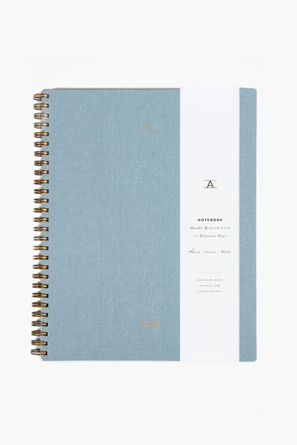 chambray blue lined notebook