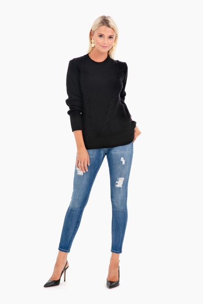 kate placement cable sweater
