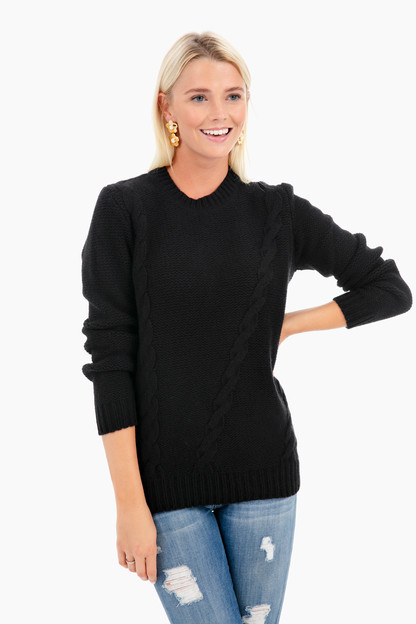 Kate Placement Cable Sweater Take an extra 30% off with code: HOORAY