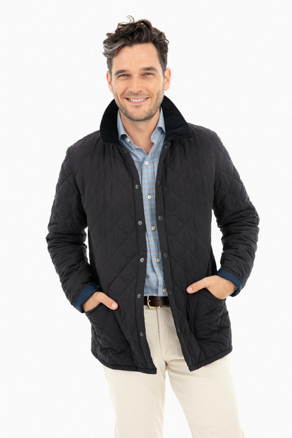 bridle quilted jacket