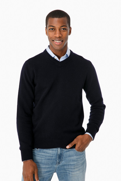 nelson essential v neck sweater