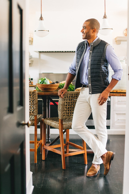 mid gray essential gilet