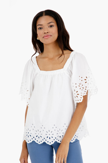 rucker eyelet top