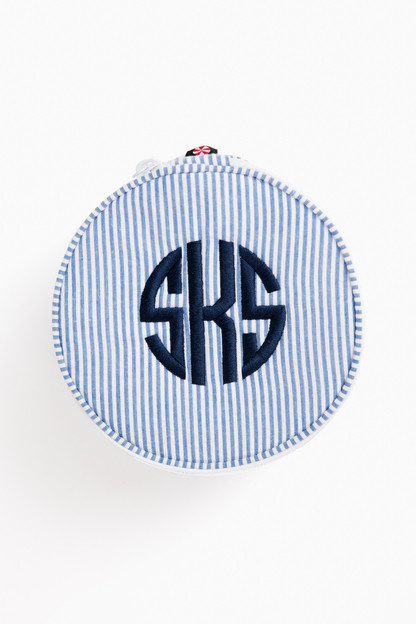 seersucker button bag