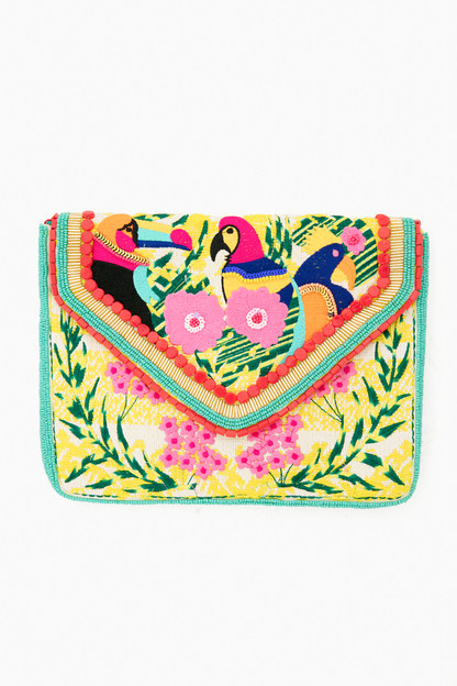 Beaded Birds of Paradise Purse