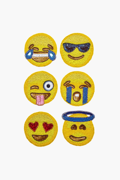 emoji 2.0 coaster set