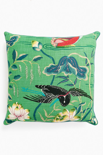 lotus garden pillow