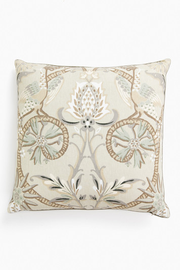 peacock garden pillow