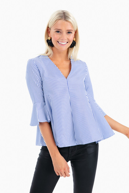 Striped Adelaide Blouse