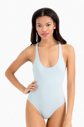 basics round neck tank one-piece