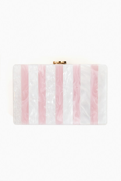 Candy Stripe Clutch