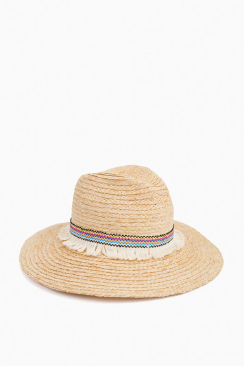 raffia braid continental hat