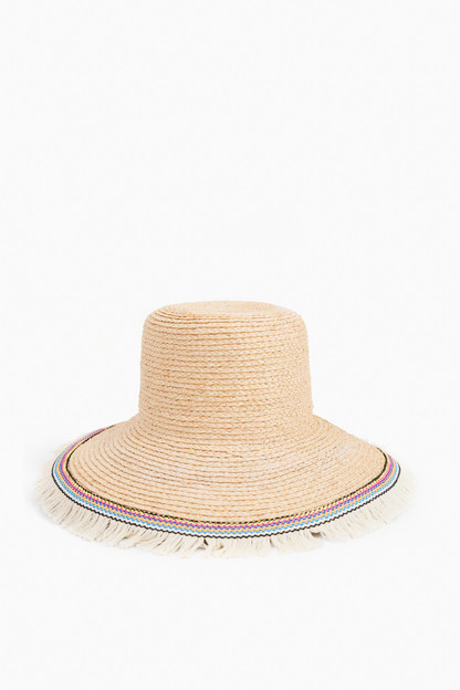 raffia braid lampshade hat