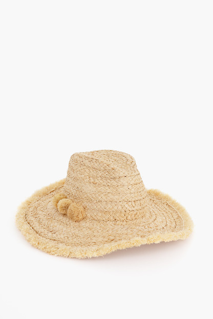 Thick Braid Fringed Rancher Hat