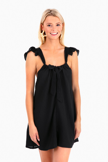 evelyn tie-front dress