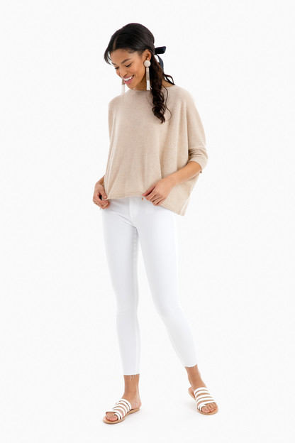 cropped cashmere crew