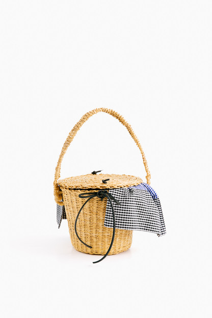 Black Lou Straw Bag