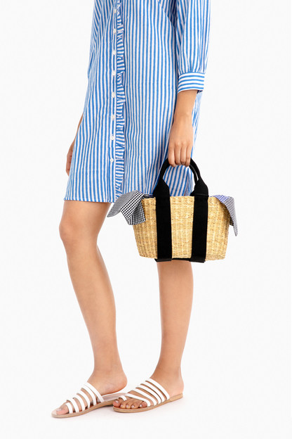 mini caba straw bag