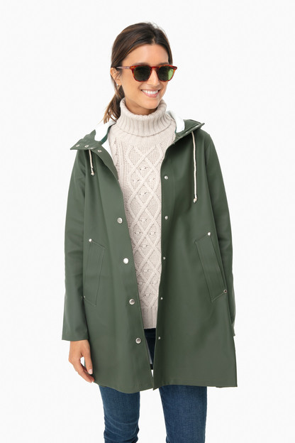 green mosebacke raincoat