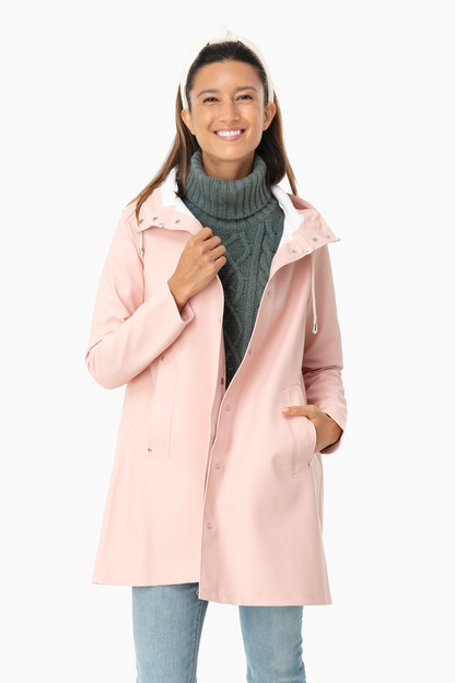 pale pink mosebacke raincoat