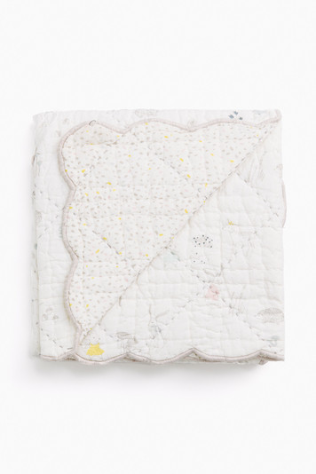 magical forest quilted nursery blanket
