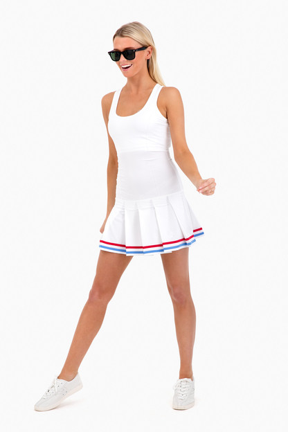 pleated tennis dress