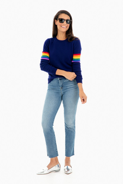 rainbow arms cashmere sweater