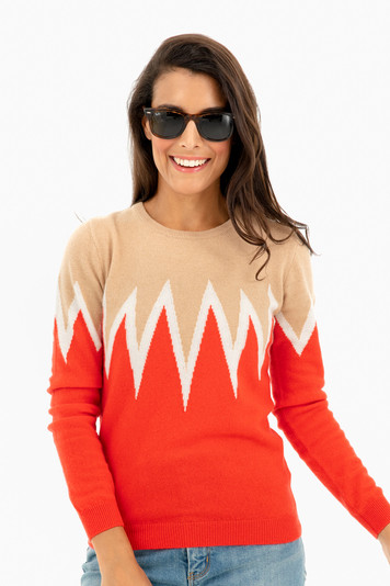 starburst cashmere sweater