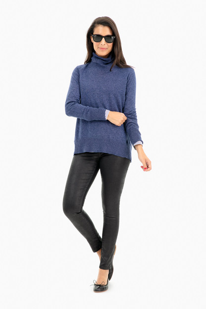raglan standneck sweater