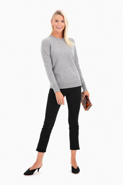essential cashmere crewneck sweater