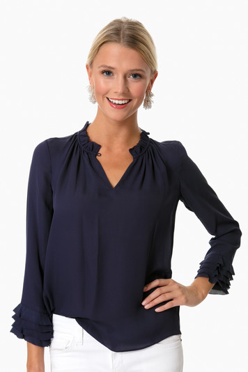 georgette ruffle top