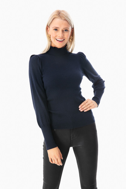 cozy turtleneck pullover