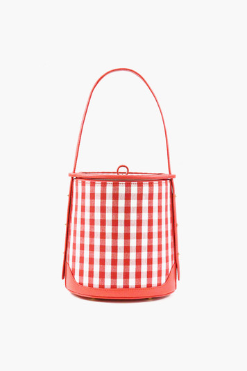 gingham ice bucket bag