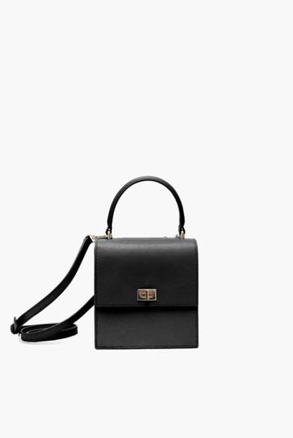black leather mini lady bag