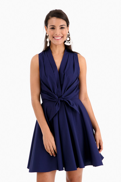swingy tie front dress