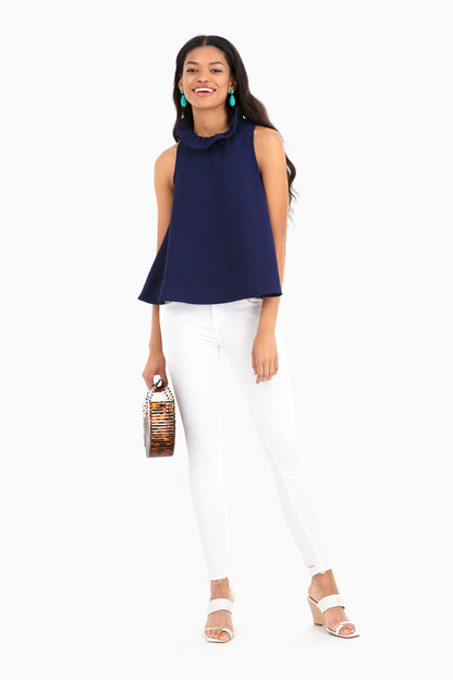 navy mason blouse